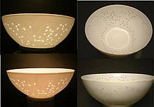 A LATE QING TO REPUBLIC PERIOD EXQUISITE EGGSHELL GLAZED BOWLS