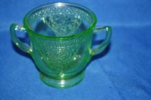 Green Lace depression sugar dish.