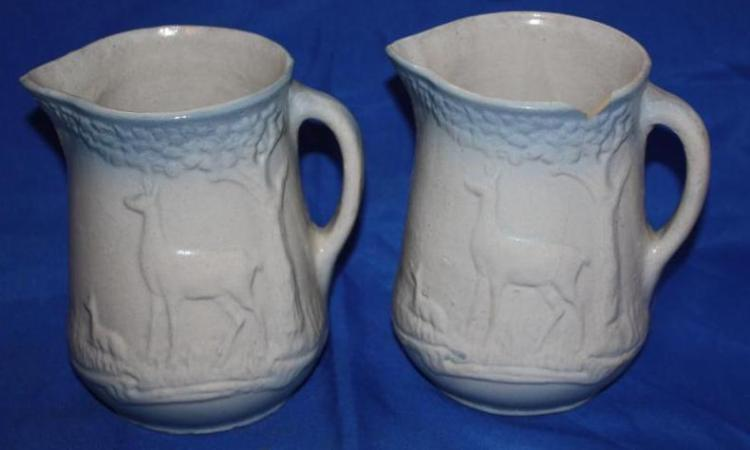 Two Stoneware Pitchers
