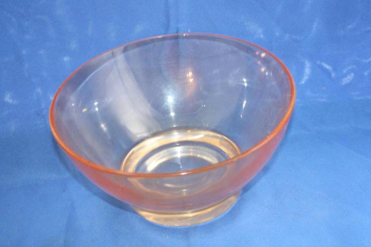 Pink Depression Glass Bowl
