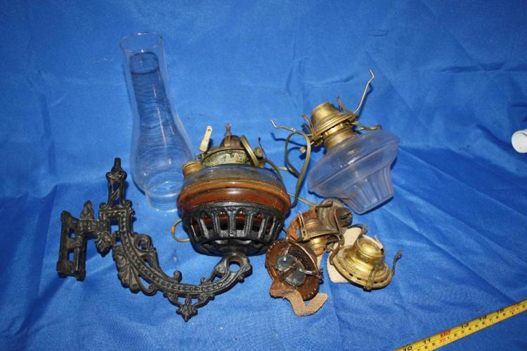 Misc. Oil Lamps Electric and 1 Lamp Chimney