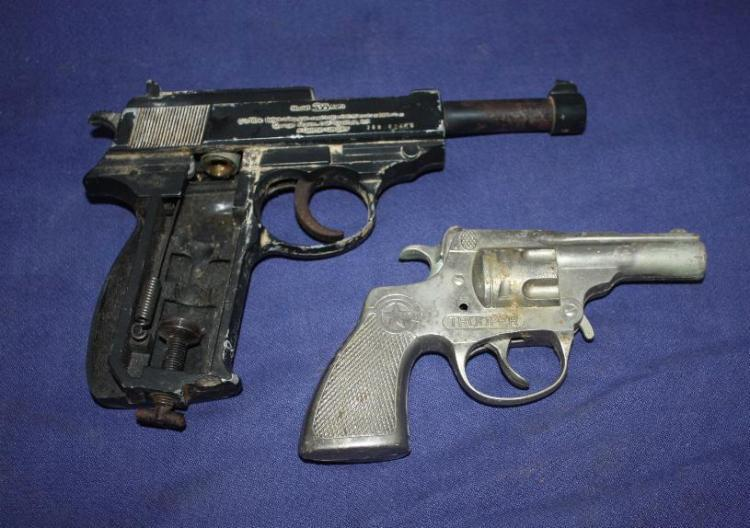 Trooper Cap Gun & 338 Auto airgun.