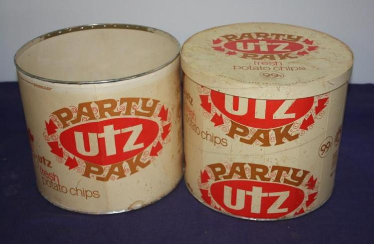 2 party pack Utz potato chip tins