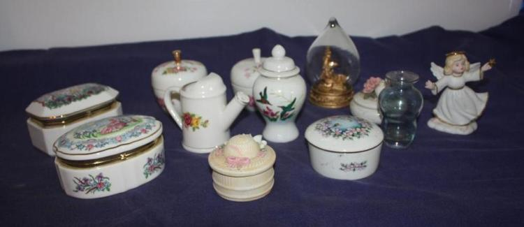 Heritage House Porcelain Music Boxes and Misc Other Items