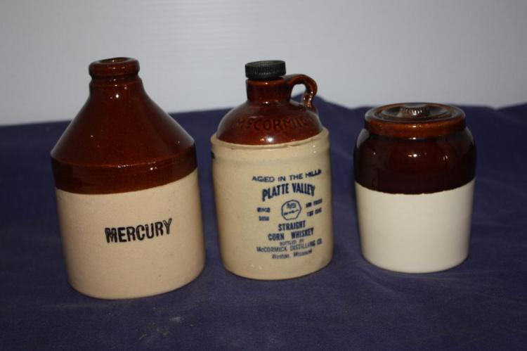 Mercury, McCormick Whiskey, Other (Crock Jugs)