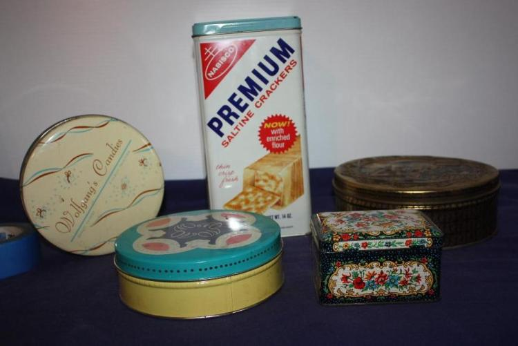 Nabisco Saltine Tin, Misc. Assorted Tins