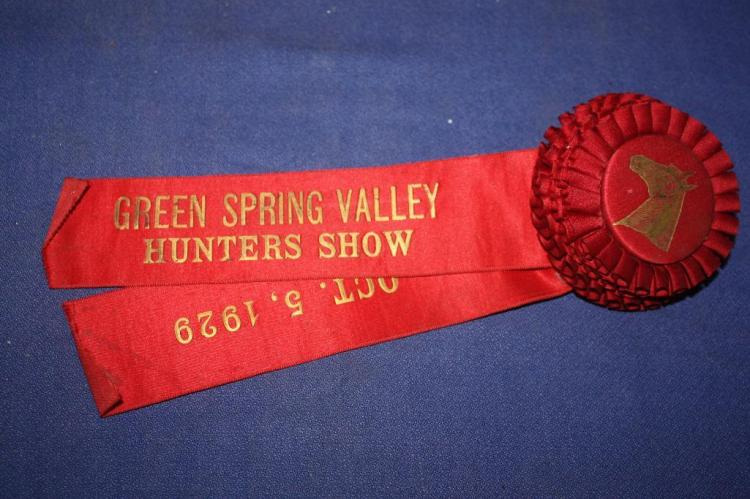 Green Spring Valley, Hunter Show Ribbon