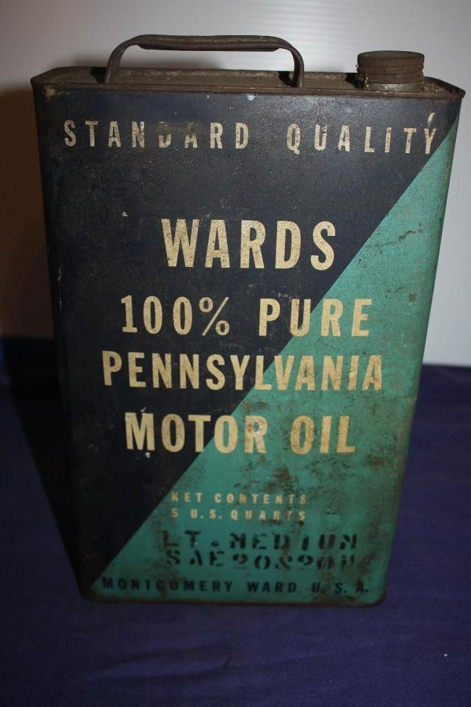 Wards 100% Pure Penn. Motor Oil Can