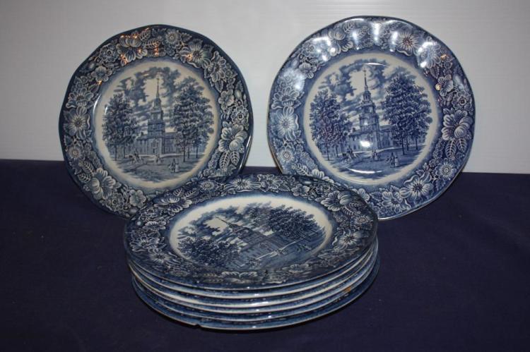 Liberty Blue England Plate Set