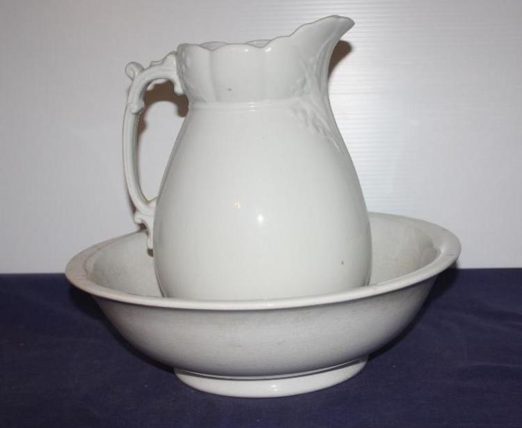 Royal Ironstone China Pitcher and Bowl