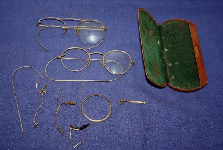 Early Eye Glasses & Case.