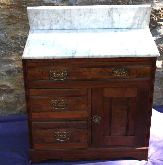 Wash Stand w/marble top.