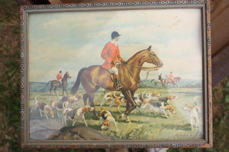 Framed  Fox Hunt Picture