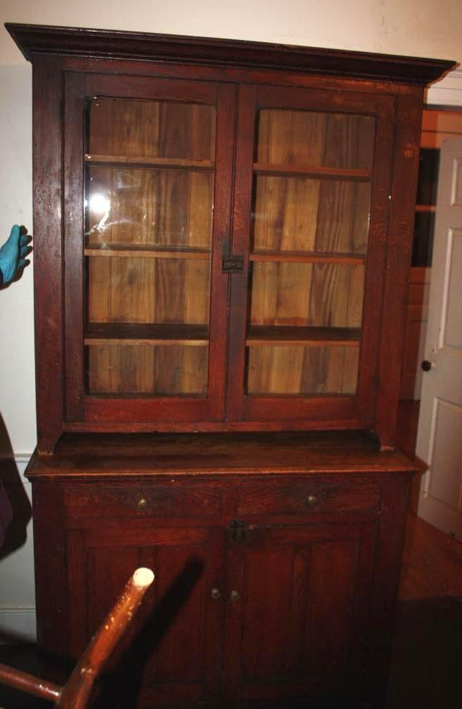 Early Oak Stepback Cupboard