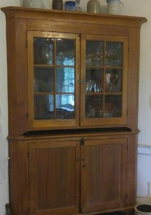 Two Part Corner Cupboard