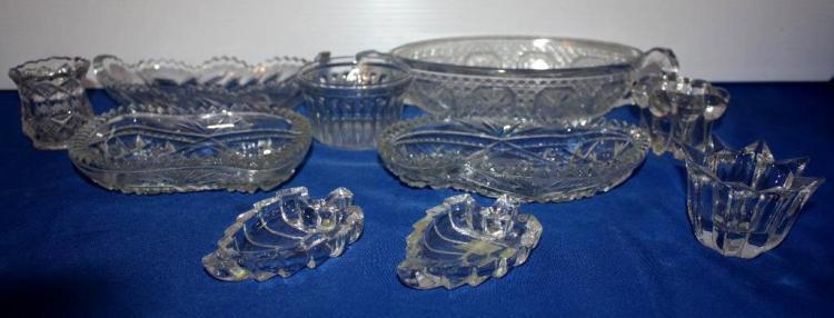 10pc. Misc glassware