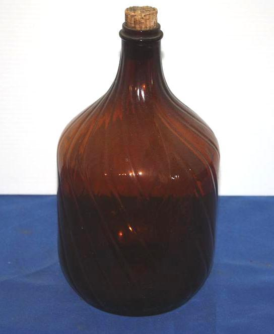 Large Brown Glass Jug