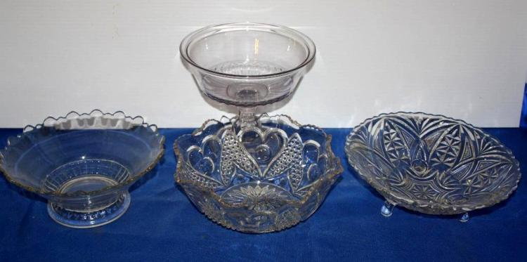 4 Piece Misc. Glass Bowls