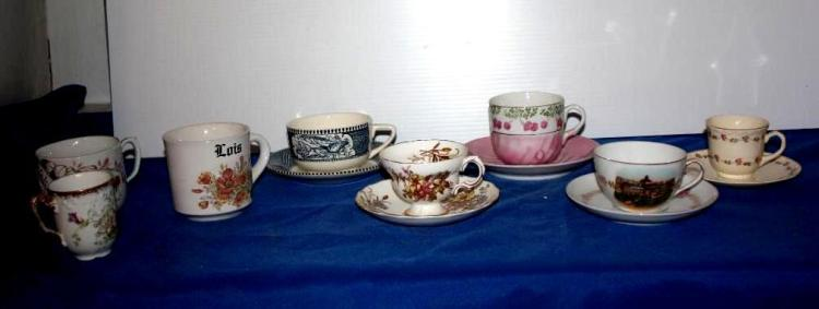 Tea sets, 8 Cups, 3 Saucers