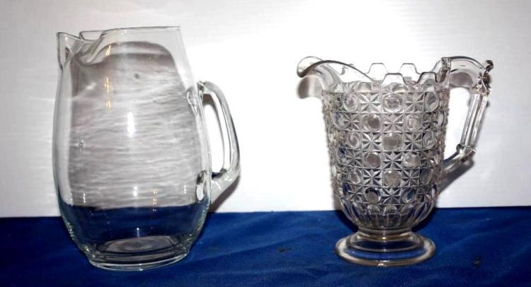 2 Glass Pitchers