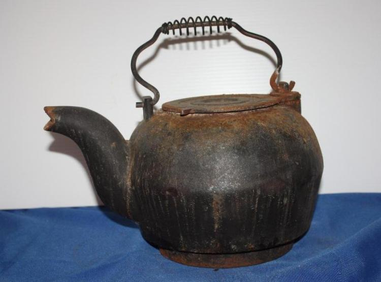 Black Cast Iron Tea Kettle