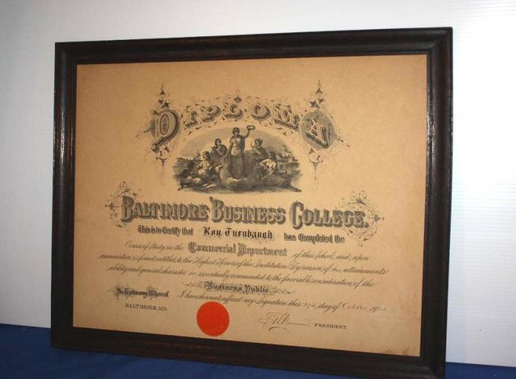 Baltimore Business College Diploma