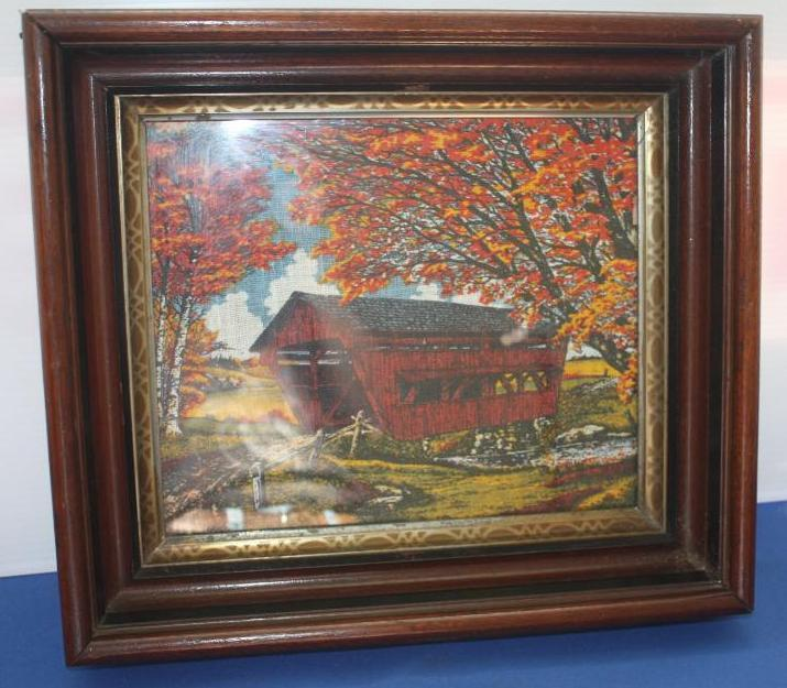 Tapestry of a Covered Bridge