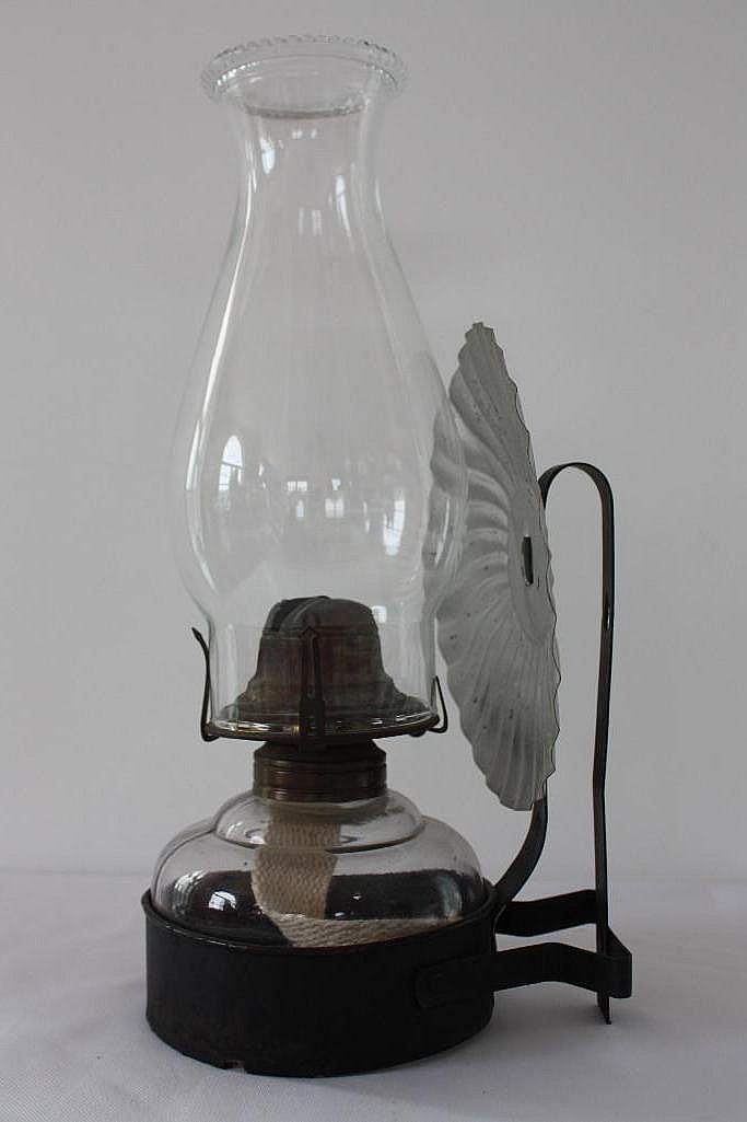Wall Bracket Kerosene Lamp : Glass Kerosene Lamp, w/wall mount bracket