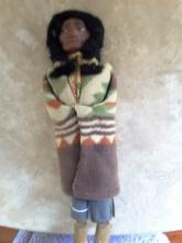 Large Skookum Doll, Circa 1940-1950, Native American