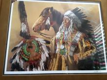 ARTIST PAUL CALLE, NATIVE AMERICAN, SIGNED & NUMBERED