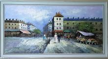 Burnet Original Street of Paris Oil Painting on Canvas