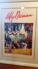 """Leroy Neiman (b.1927 - 2012) HAPPY BIRTHDAY MR. PRESIDENT. Colorful Lithograph entitled """"The President's Birthday Party"""" portraying Marilyn Monroe singing"""