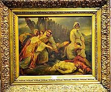 VERNET Horace (Paris 1789 - Paris 1863) d'après, huile sur toile, Edith ret