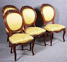 Belle suite  de quatre chaises Louis-Philippe