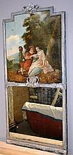 Trumeaux de boudoir en bois peint et sculpté.
