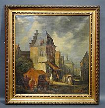 Huile sur toile monogrammée AR 1748