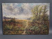 Huile sur toile signée L. Crehay