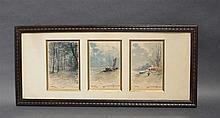 3 aquarelles signée Jos Vreuls