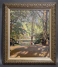 Huile sur toile signée A. Hallet