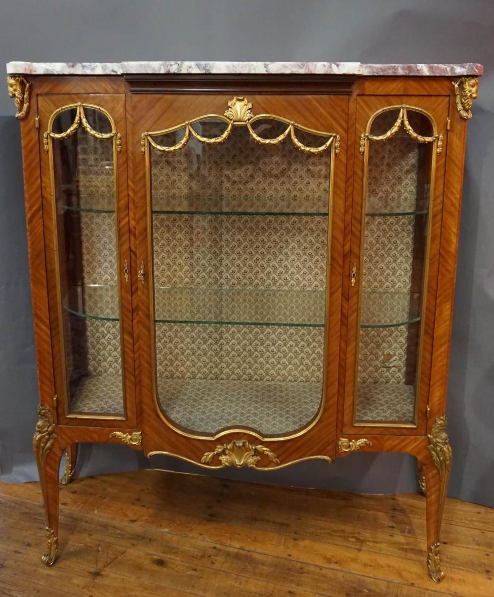 Meuble H Et H meuble vitrine napoléon iii en bois de rose et bro
