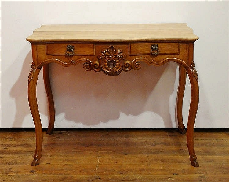 Table bureau en merisier 93x56 cm h 75 cm for Bureau 75 cm