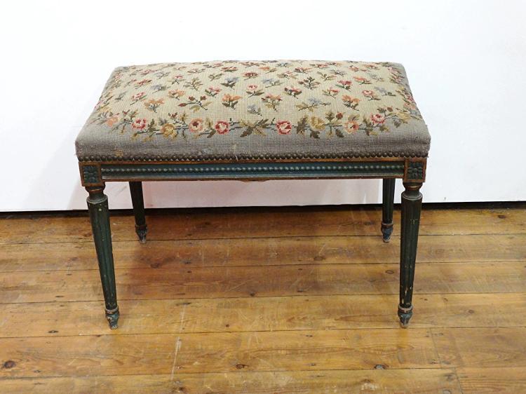 banquette de style louis xvi 70x44 cm h 50 cm. Black Bedroom Furniture Sets. Home Design Ideas