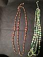 reddish beaded designer necklace