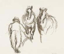 Pferde und Bauer