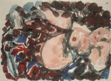 Nude in rose bed, 1950