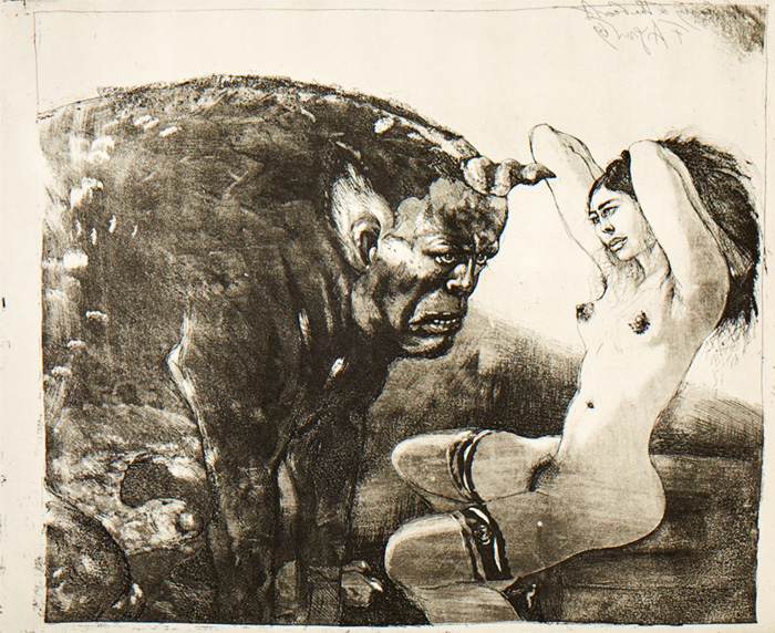 The Beauty and the Bull from the cycle: The Beauty and The Beast; 1970