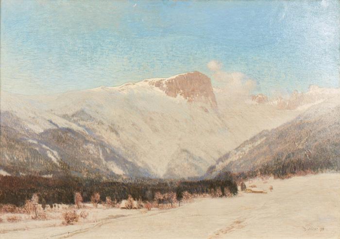 Winter at Hochschwab; 1921