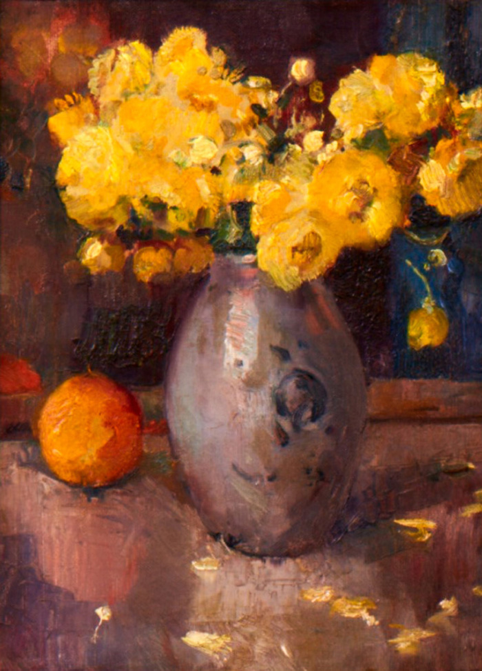 Still Life with Yellow Ranunculus