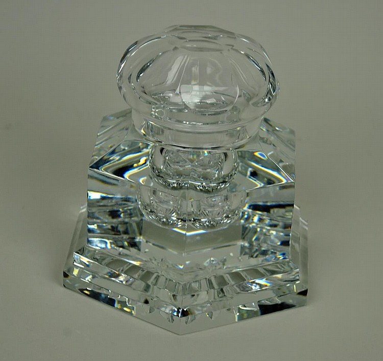 BACCARAT CRYSTAL INKWELL