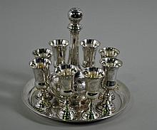 10-PIECE STERLING DECANTER SET
